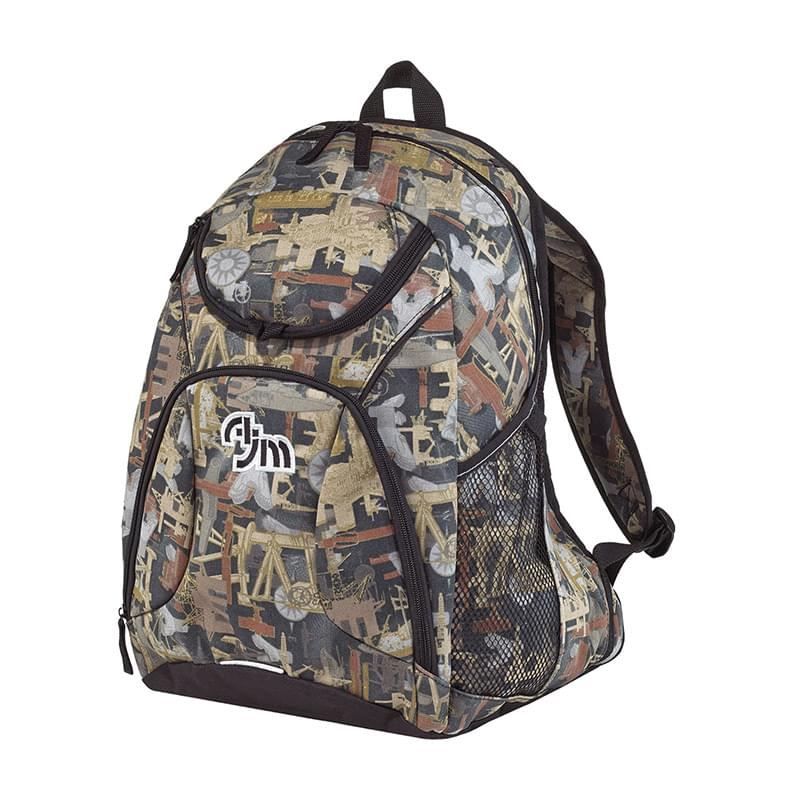 OILFIELD® CAMOUFLAGE BACKPACK PVC Coated 600D Polyester Canvas / 420D Polyester Canvas